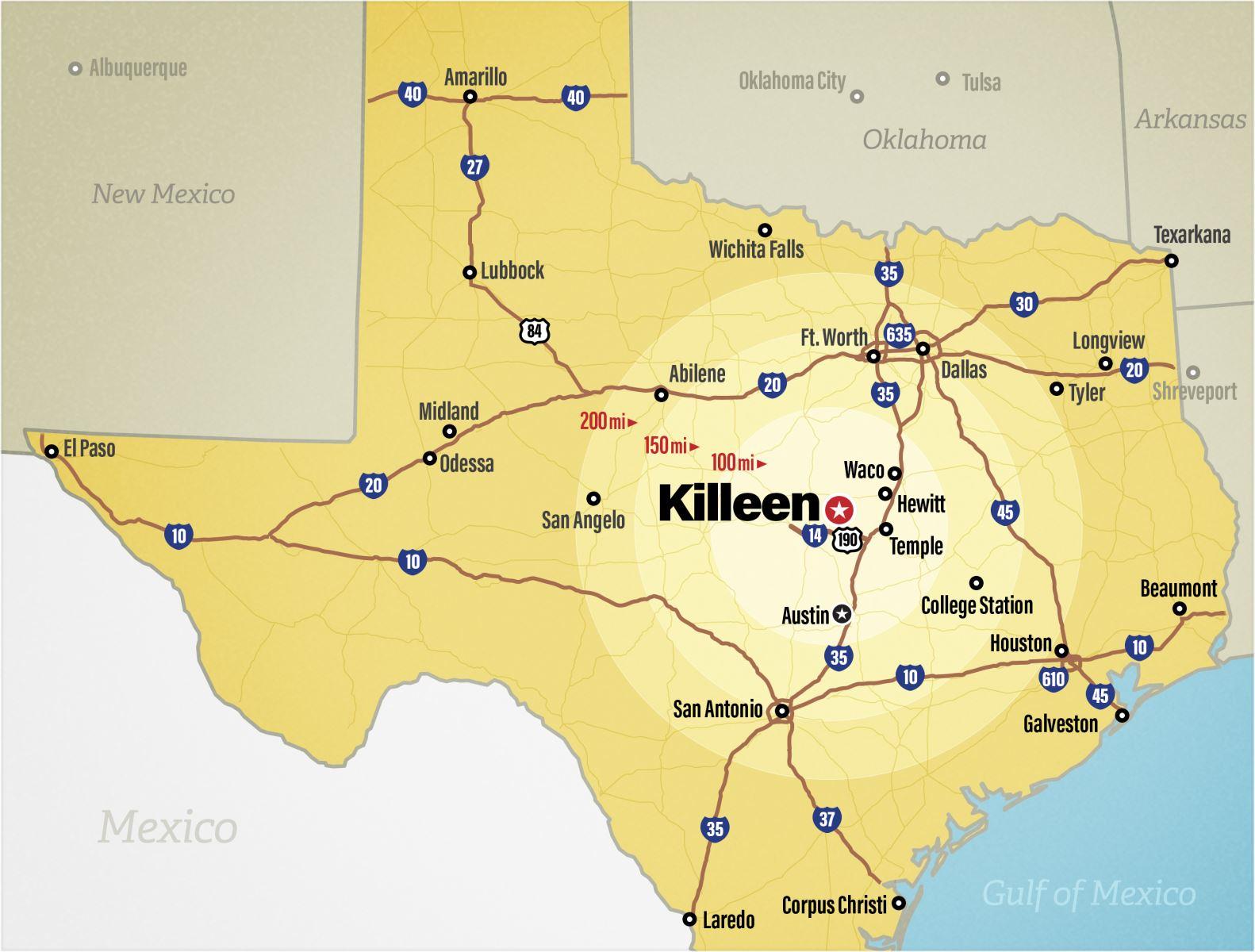 Killeen Texas Map Home | Killeen Economic Development Corporation